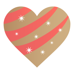 Golden heart icon