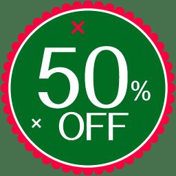 Christmas 50 Percent Icon | Vector Christmas Iconset ...