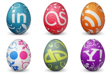 Social Easter Egg Icons