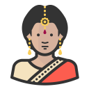 Indian woman icon
