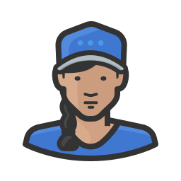 Girl in ballcap icon