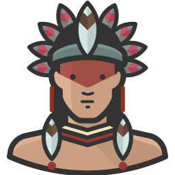 Native man icon