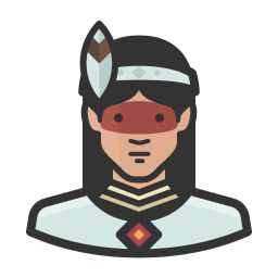 Native woman icon