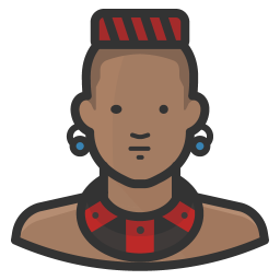 Traditional african man icon