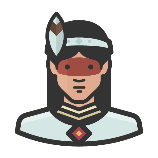 Native woman icon