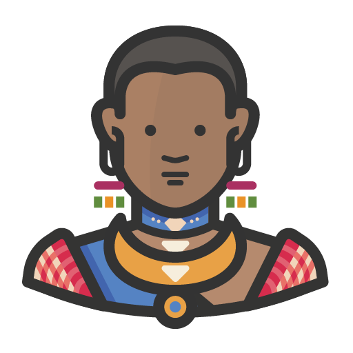Traditional african woman icon