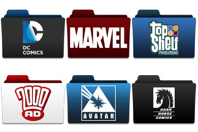 Comic Publisher Folder Icons