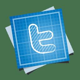Twitter icon blueprint social iconset double j design twitter icon malvernweather Images