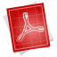 Adobe blueprint pdf symbol icon