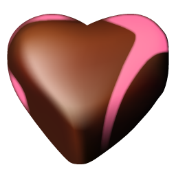Chocolate hearts 02 icon