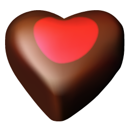 Chocolate hearts 03 icon