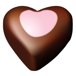 Chocolate hearts 10 icon