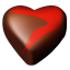 Chocolate hearts 12 icon