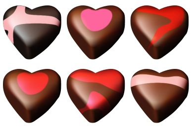 Chocolate Hearts Icons