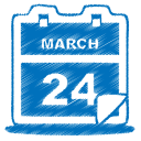 blue calendar icon