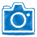 Blue-camera icon