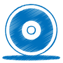 blue cd icon