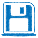 Blue disk icon