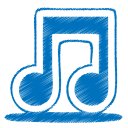 Blue-music icon
