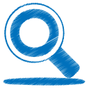 Blue search icon