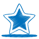 Blue-star icon