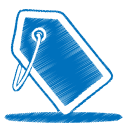 blue tag icon
