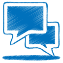 blue talk icon