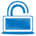 Blue-unlock icon
