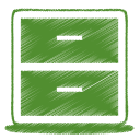 Green-archive icon