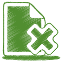 green document cross icon