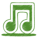 Green music icon