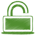 Green unlock icon