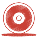 Red cd icon