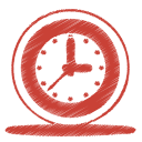 Red-clock icon
