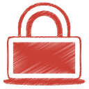red lock icon