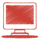 red monitor icon