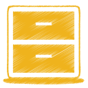 yellow archive icon