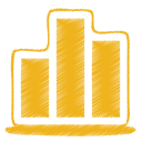 Yellow-chart icon