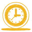 yellow clock icon