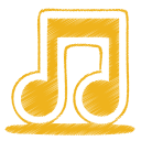 Yellow-music icon