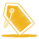 Yellow-tag icon