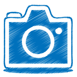 blue camera icon