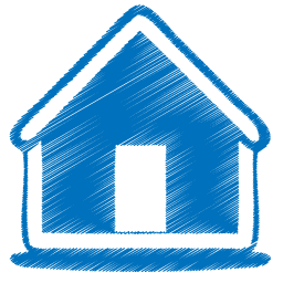 blue home icon