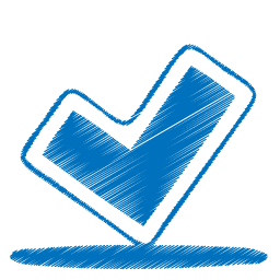 Blue ok icon