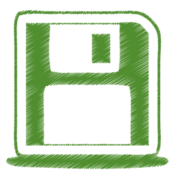 green disk icon