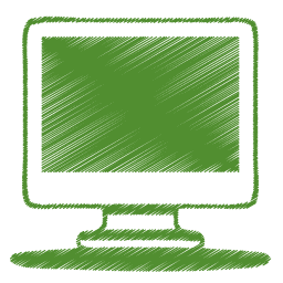green monitor icon