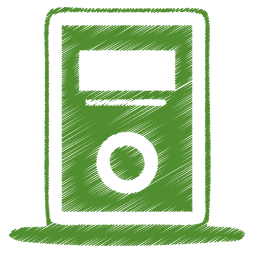 Green mp3 player icon