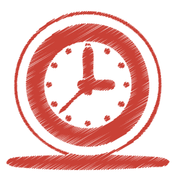 Red clock icon