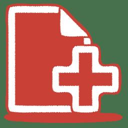 red document plus icon