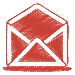 red mail open icon